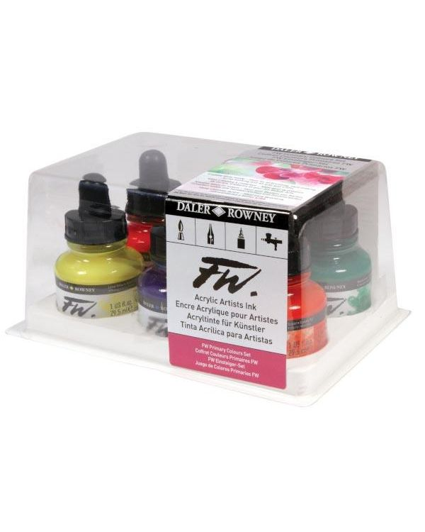 Primary Colours - FW Ink set of 6