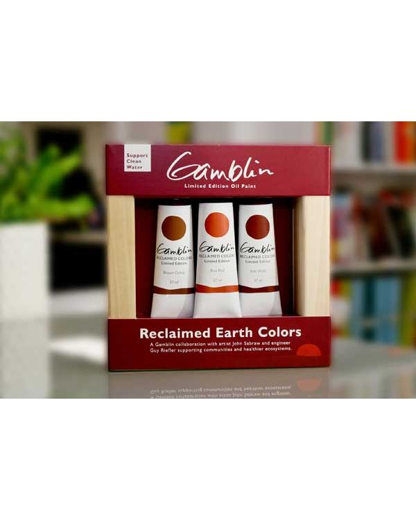 Gamblin Reclaimed Earth Colours Set 3 x 37ml tubes