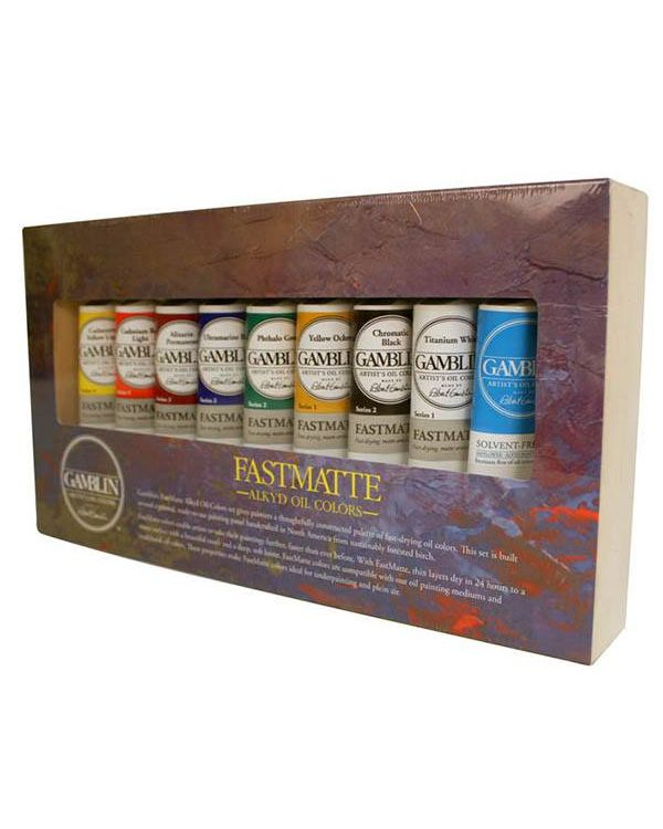 Gamblin FastMatte Alkyd Oil Colours Set
