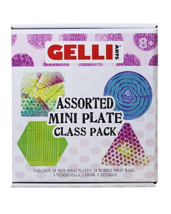 Assorted Class Pack - Mini Gelli Printing Plate
