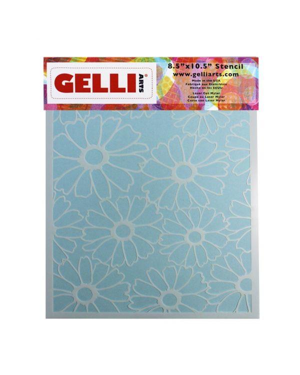 "Flowers - 8 x 10"" - Stencil - Gelli Arts"
