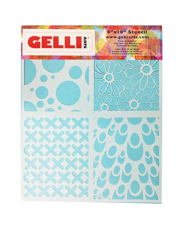"""Multi Design - 8 x 10"""" - Stencil - Gelli Arts"""