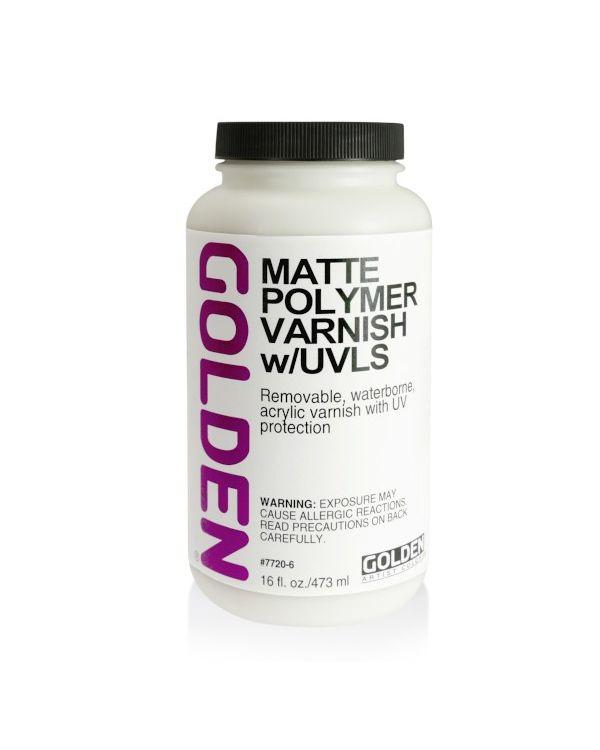 473ml - Matte - Golden Water Based Polymer Varnish