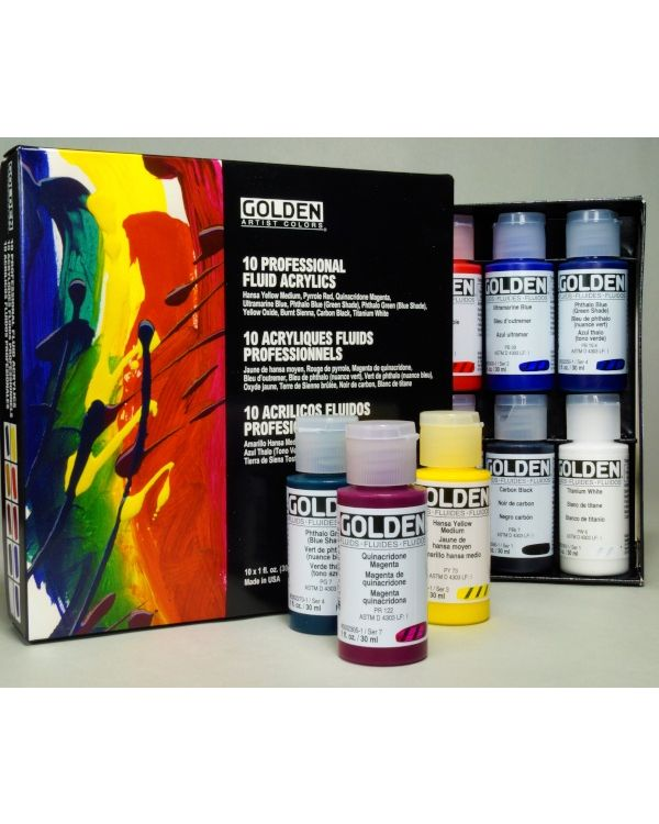 Golden Professional Fluid Acrylic Set 10 x 30ml