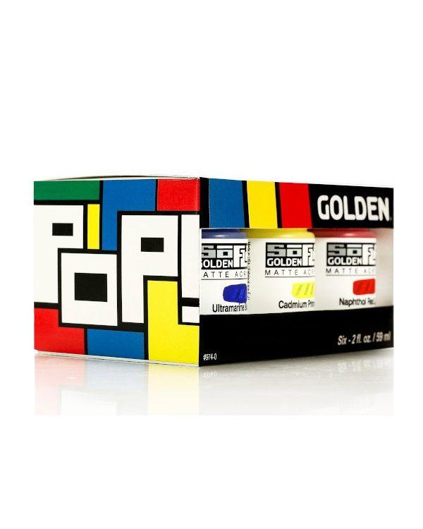 Golden SoFlat Matt Acrylic Carboard Box Set
