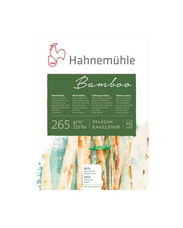 24 x 32cm 265gsm - 25 sheets - Hahnemühle Bamboo Mixed Media Pad