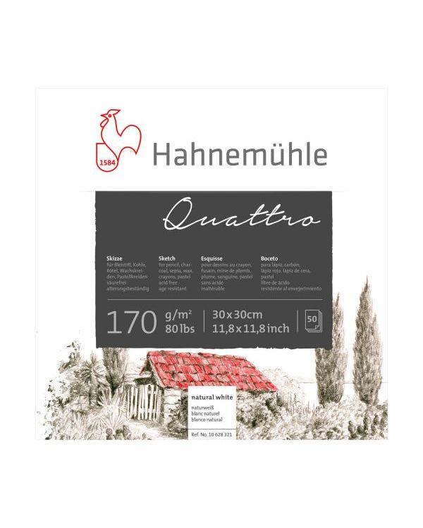 30 x 30cm - 170gsm - 50 sheets - Hahnemühle Quattro Square Sketch Pad