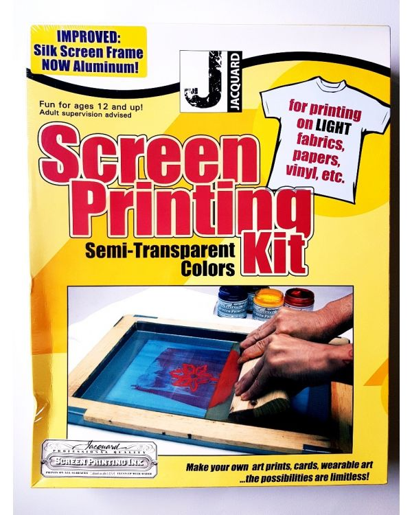 Screen Printing Kit Semi Transparent Colours - Jacquard JSI900