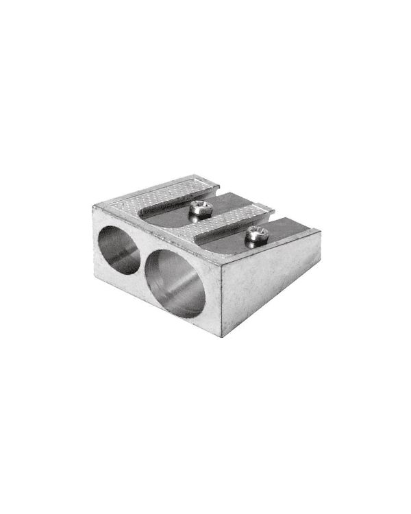 Double hole metal pencil sharpener