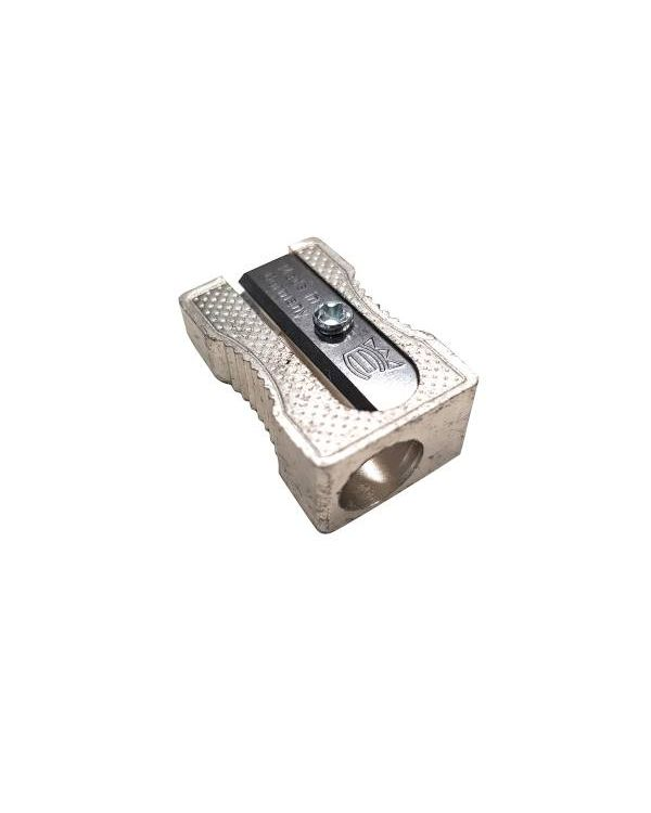 Single hole metal pencil sharpener