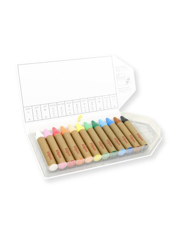 Kitpas large crayon set 12 colours