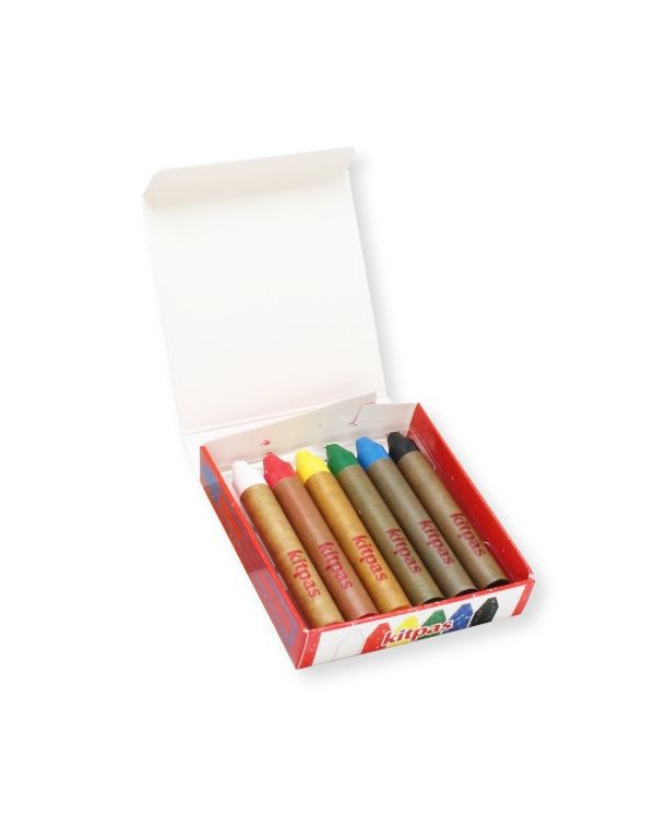 Kitpas Medium crayon set 6 colours