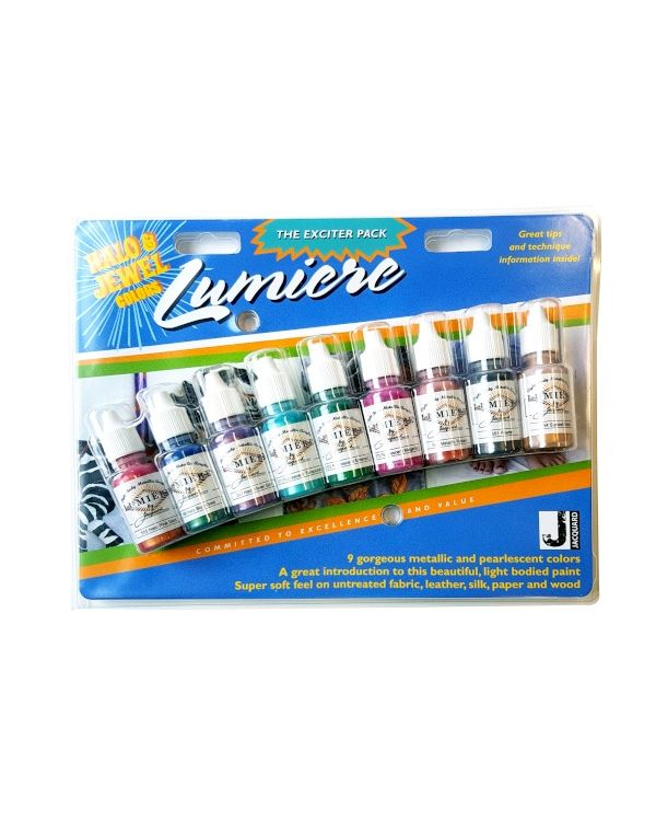Exciter Pack Jacquard Lumiere Halo & Jewel (9 x 14ml bottlest) Metallics & Pearlescents