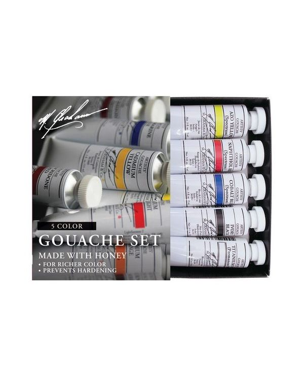 5 Colour Gouache Basic Set - M Graham