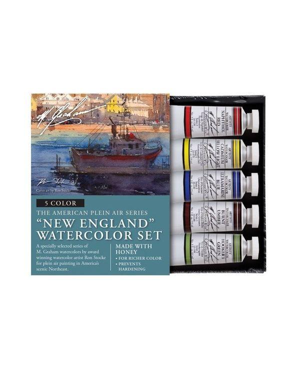 New England Set of 5 - 15ml - M Graham Watercolour Set