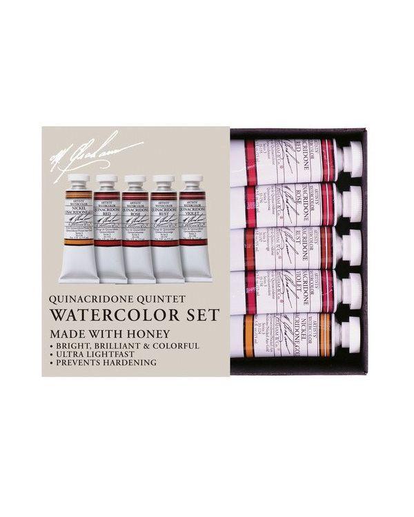 Quinacridone Quintet Set of 5 - 15ml - M Graham Watercolour Set