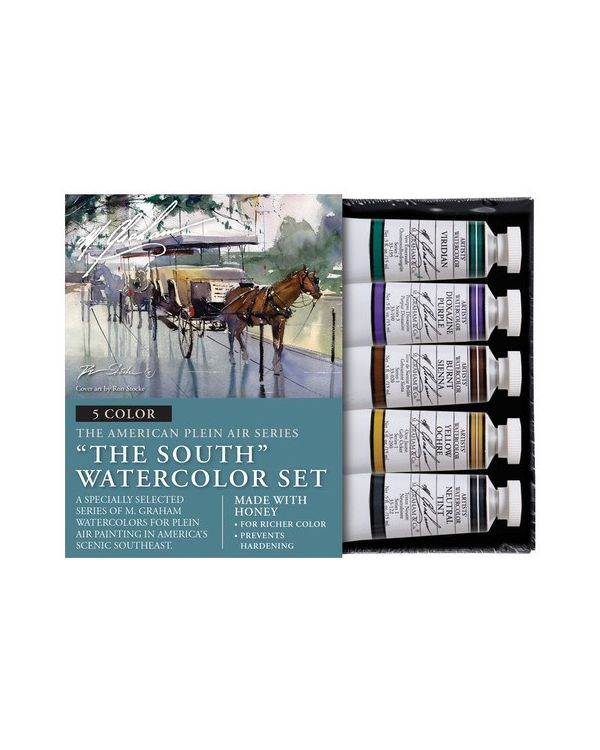 The South Set of 5 - 15ml - M Graham Watercolour Set