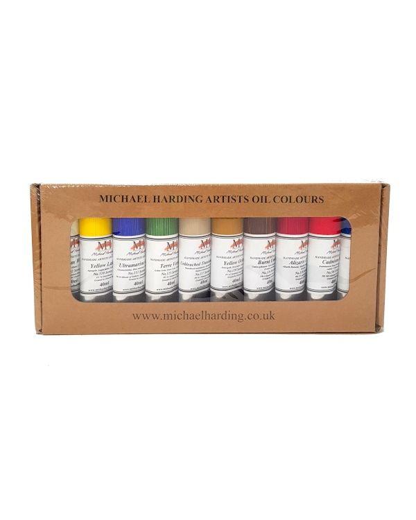 Plein Air Painter Set of 10 - Michael Harding 40ml Oil Set
