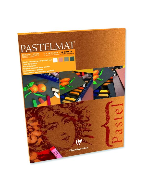12 sheets - 360gsm - Clairefontaine Pastelmat Pad