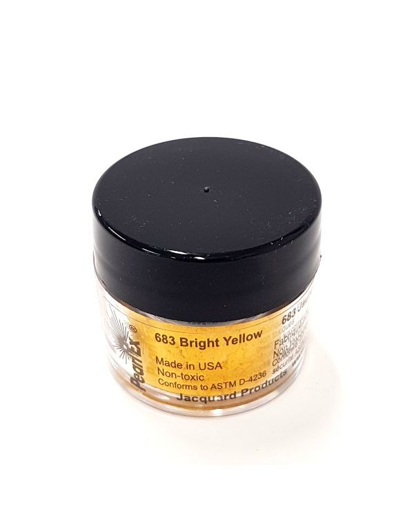 Bright Yellow 683 - Pearlex Powder Pigment 3g Jar