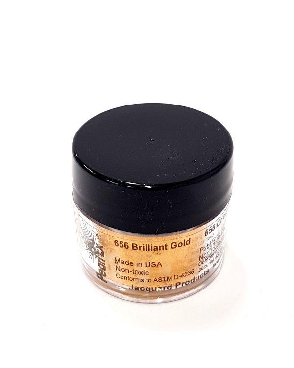 Brilliant Gold 656 - Pearlex Powder Pigment 3g Jar