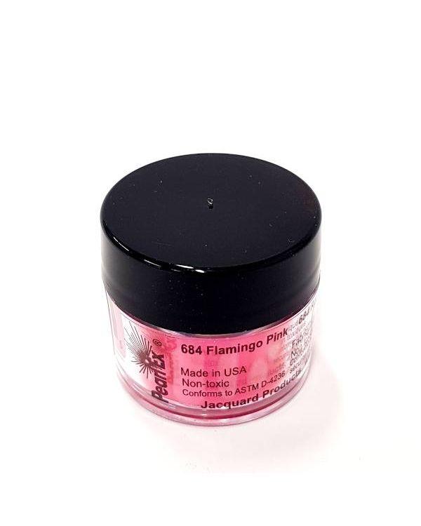 Flamingo Pink 684 - Pearlex Powder Pigment 3g Jar