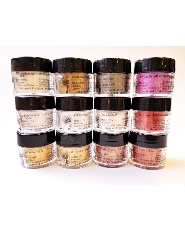 Pearlex Powder Pigment Series 1 set of 12 x 3g - Jacquard