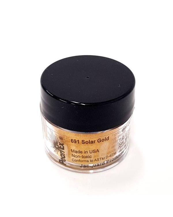 Solar Gold 691 - Pearlex Powder Pigment 3g Jar