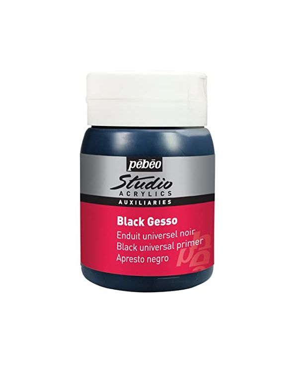 Pebeo Studio Acrylic Black Gesso Primer 500ml