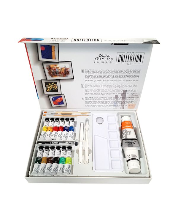 Pebeo Studio Acrylics Collection Case - 23 Pieces