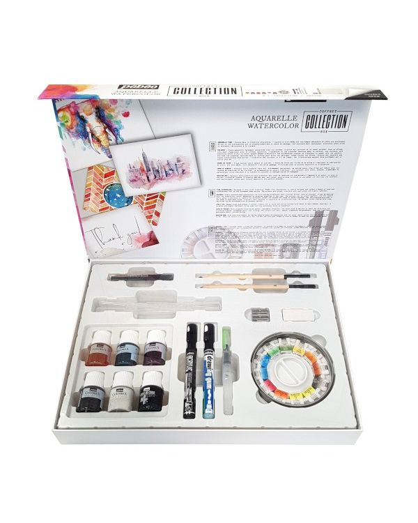 Pebeo Aquarelle Watercolour Collection Case - 36 Pieces