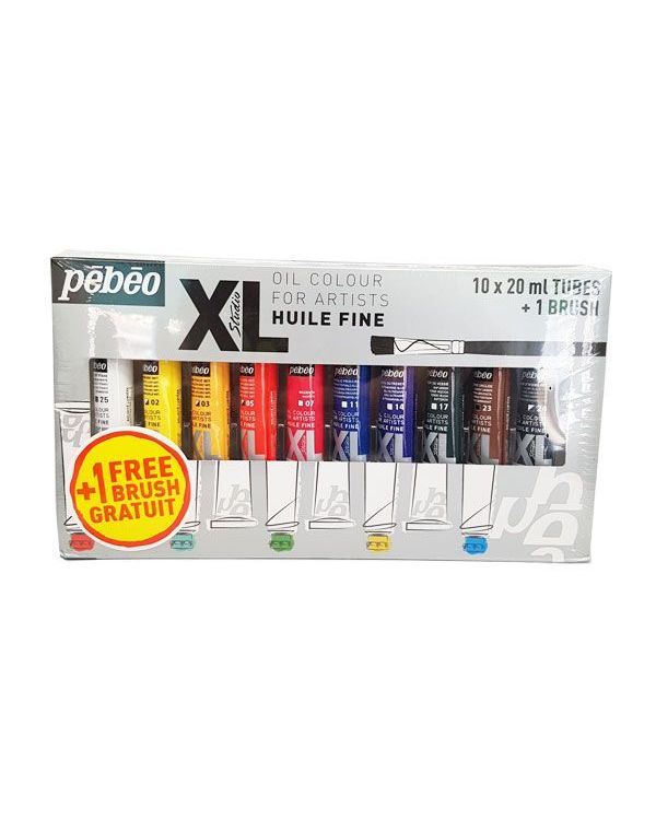 Set of 10 tubes 20ml - Pebeo XL Oil