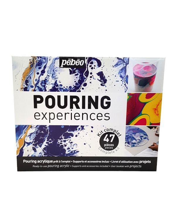Pouring Kit - 47 pieces - Pebeo Pouring Sets