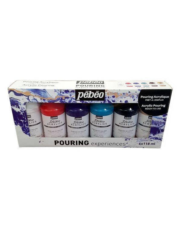 Pouring Set - 6 x 118ml - Pebeo Pouring Sets