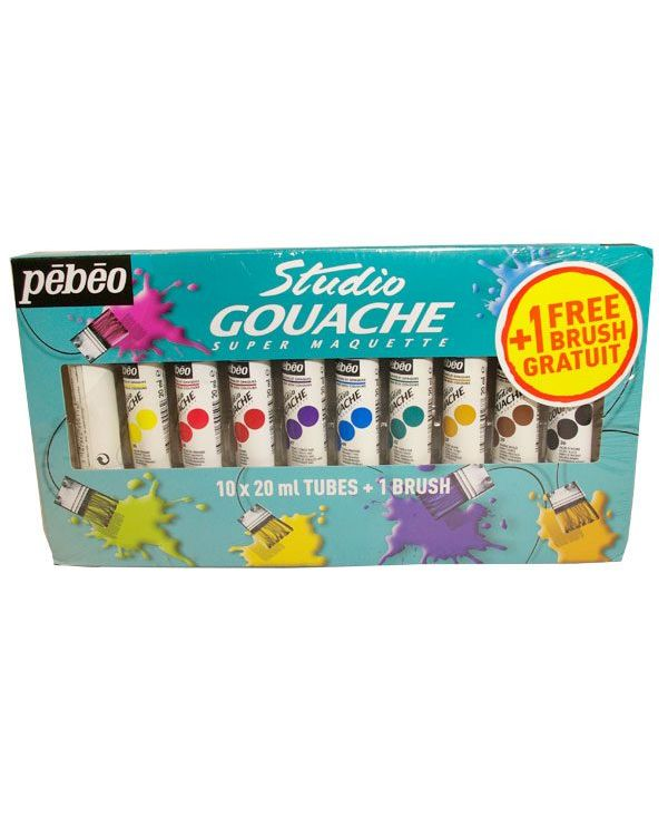 Studio Gouache Starter Set 20ml tubes x10