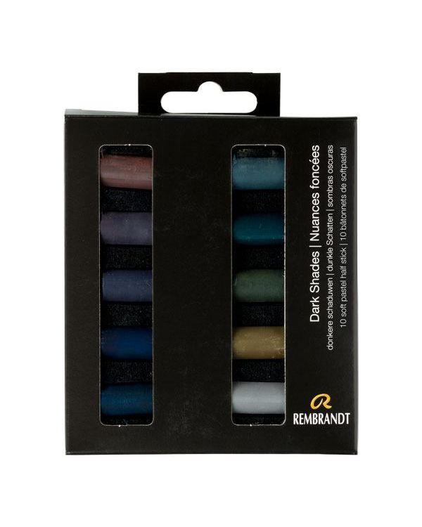 Dark Shades - Soft Pastel Micro Set of 10 - Rembrandt