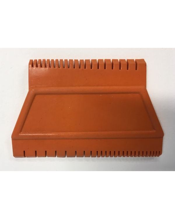 Rubber Wood Graining Tool Two Sided Wedge graduated teeth comb