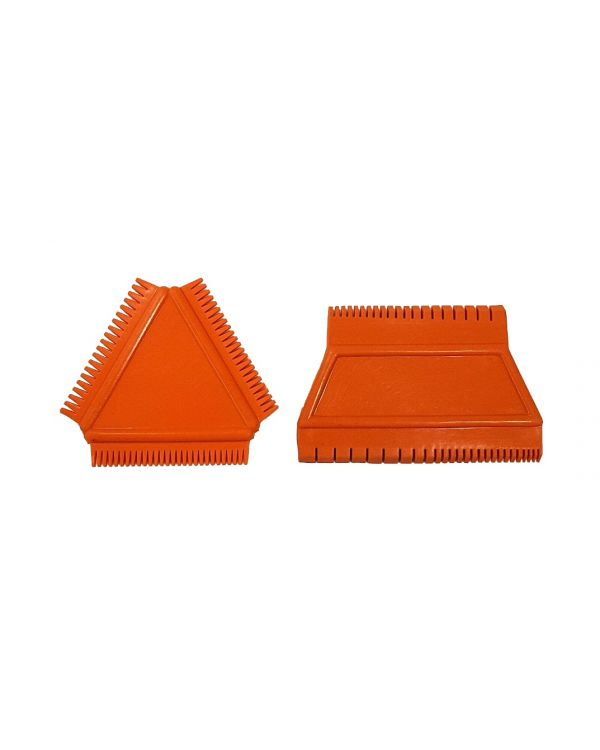 Rubber Wood Graining Tool Set Wedge Comb and Triangular Tool