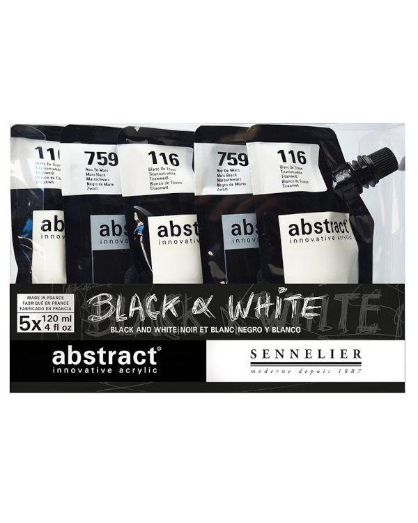 Black/White - Sennelier Abstract Set 5x120ml