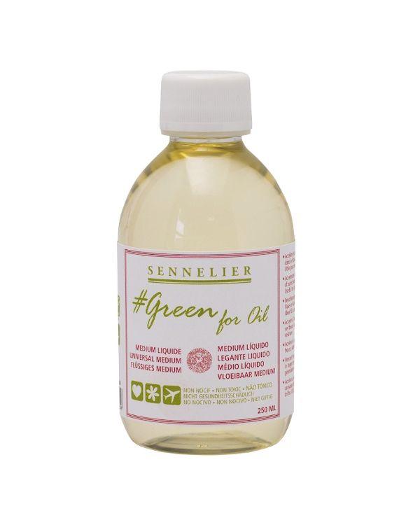 250ml Liquid Medium - Sennelier Green for Oil