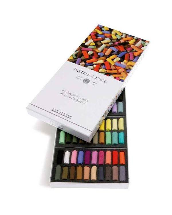 Assorted Set of 80 - Sennelier Soft Half Pastels Set