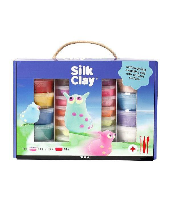 Silk Clay Set 10 x 40g, 18 x 14g
