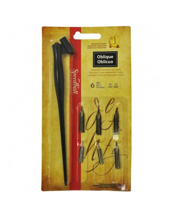 Speedball Oblique Pen Set