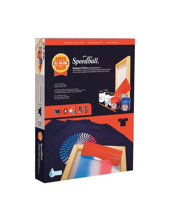 Opaque Iridescent Fabric Screen Printing Kit - Super Value Speedball