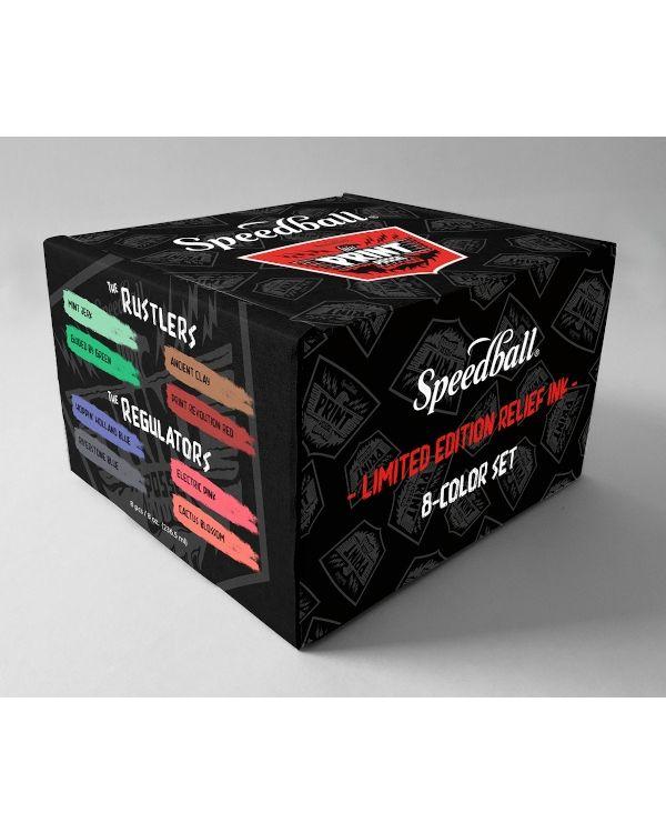 The Rustlers & Regulators Posse Relief Ink 8-Colour Set - Speedball