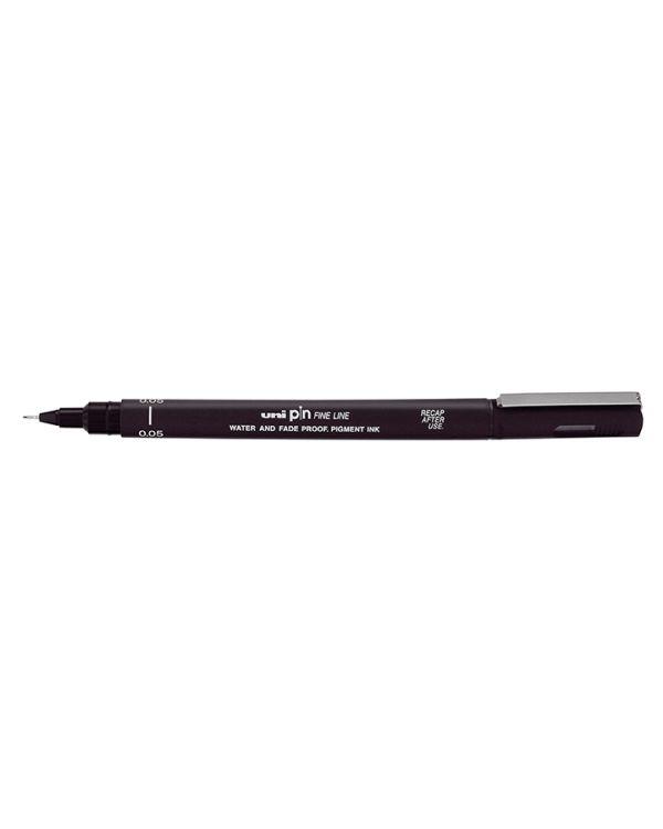 Black 0.6mm - Uni Pin Technical Fineliner