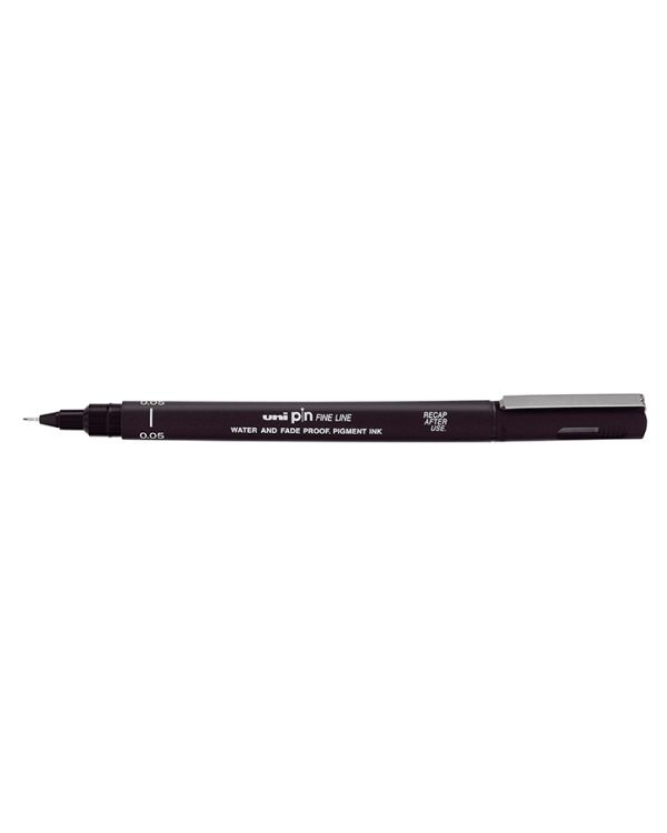 Black 0.8mm - Uni Pin Technical Fineliner