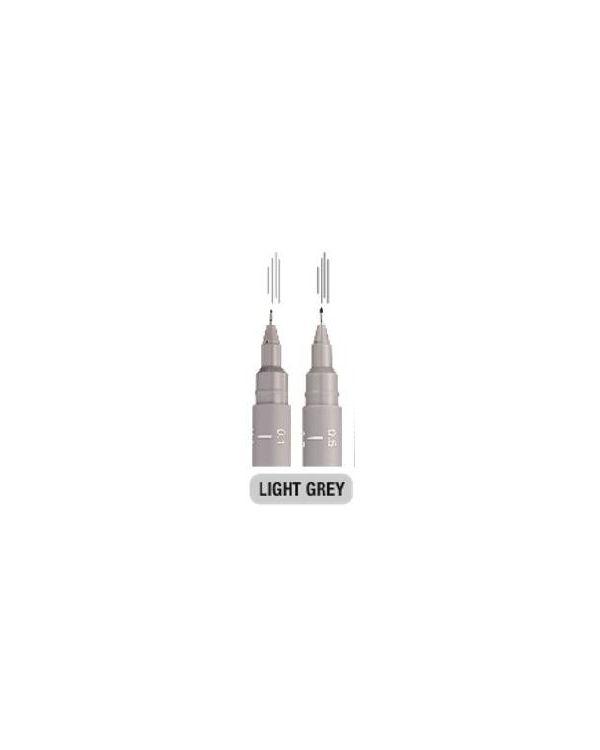 Light Grey 0.1mm - Uni Pin Technical Fineliner