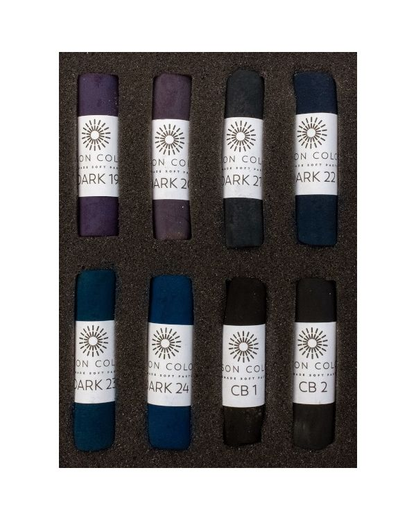 Midnight Set of 8 Pastels - Unison Pastel Sets