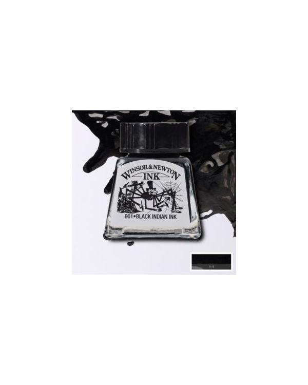 Black Indian - Waterproof - 30ml Winsor & Newton Drawing Ink